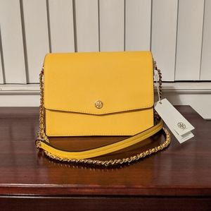 Tory Burch Robinson Convertible Leather Purse